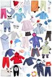 Ropa y accesorios para los niños Imagen de archivo libre de regalías
