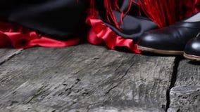 Ropa y zapatos para el flamenco almacen de metraje de vídeo
