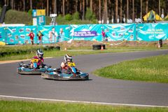 ROPAZI LATVIA, MAJ, - 24, 2018: Studenccy sport gier ZZ mistrzowie Zdjęcie Royalty Free
