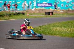ROPAZI, LETONIA - 24 DE MAYO DE 2018: CAMPEONES de Sports Games ZZ del estudiante Foto de archivo