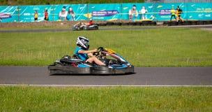 ROPAZI, LETONIA - 24 DE MAYO DE 2018: CAMPEONES de Sports Games ZZ del estudiante Foto de archivo libre de regalías