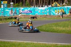 ROPAZI, LETONIA - 24 DE MAYO DE 2018: CAMPEONES de Sports Games ZZ del estudiante Fotos de archivo