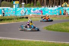 ROPAZI, LETTONIE - 24 MAI 2018 : CHAMPIONS de Sports Games ZZ d'étudiant Image libre de droits