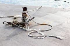 Rope, длина сильного шнура сделанная путем переплетать совместно стренги естественных волокон как пенька Стоковая Фотография