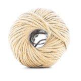 Rope пасмо, крен джута, заплетенный шарик изолированный на белой предпосылке Стоковые Фотографии RF