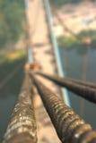 Rope с связанным узлом моста смертной казни через повешение Стоковые Изображения RF