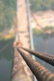 Rope с связанным узлом моста смертной казни через повешение Стоковые Фотографии RF