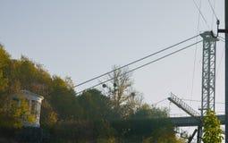 Rope с связанным узлом моста смертной казни через повешение Стоковая Фотография