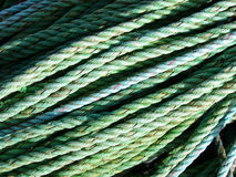 Rope. Green Rope royalty free stock photos
