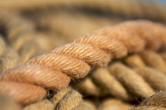 Rope. A rope in focus in front of other lines Royalty Free Stock Photos