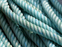 Rope. Blue ships rope on a sunny day Royalty Free Stock Image