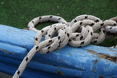 Rope. Of boat knotting, detail Stock Image