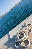 Rope. Bay in Porto Colom royalty free stock photo