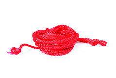 Rope. A small hank of rope is an okrashenoy vkrasnyy color Stock Photos