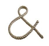 Rope. Isolated rope on white background Stock Photos