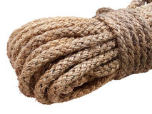 Rope. From vegetable fibers twisted, isolated royalty free stock photos