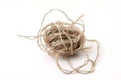 Rope. Ball of very thin rope stock photo