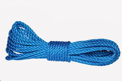 Rope. One tied knot on isolated backround royalty free stock photography