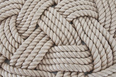 Rope. Seaman's rope on the historic ship on the Thames in London Stock Photos