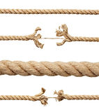 Rope. Collection of various ropes on white background. each one is shot separately Royalty Free Stock Photos