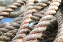 Rope 2. Fishing rope Royalty Free Stock Photo