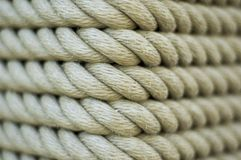 Rope 2. Coils of rope around a pole royalty free stock photography