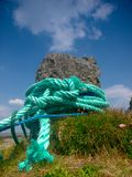 Rope. Tied to mooring bouy at Raghly, Co.Sligo Royalty Free Stock Photos