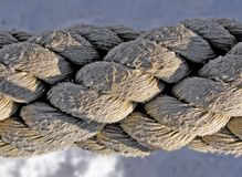 Rope. Big piese of rope Stock Photos