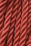 Rope. A closeup of a red rope strings Royalty Free Stock Photo