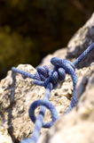 Rope. Blue climbing rope Royalty Free Stock Photos