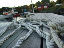 Rope. On the harbour Royalty Free Stock Images