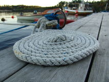 Rope. On the harbour Stock Photo