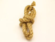 Rope. Isolated on a white background Royalty Free Stock Photos
