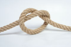 Rope. Knot rope Stock Images