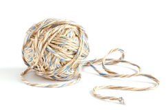 Rope. Glome of rope on white Stock Photo