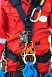 Rope access equipment for inspector. For half body view Royalty Free Stock Photos