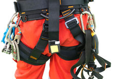 Rope access equipment for inspector Royalty Free Stock Image