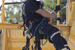 Rope access irata worker stock photography