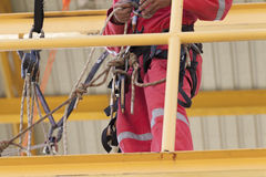 Rope access irata worker Stock Image