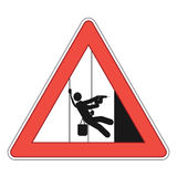 Rope access sign Stock Photography