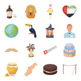 Rope, alcohol, world and other web icon in cartoon style.Animal, entertainment, servi icons in set collection. Stock Photo