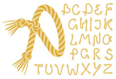 Rope alphabet Royalty Free Stock Image