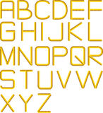 Rope alphabet Royalty Free Stock Photography