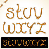 Rope Alphabet 3 Royalty Free Stock Images