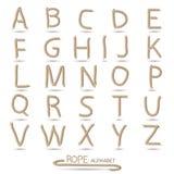 Rope Alphabet Illustration Royalty Free Stock Photos