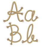 Rope alphabet.  illustration Stock Image