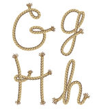Rope alphabet.  illustration Royalty Free Stock Images