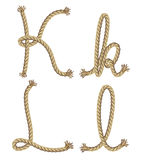 Rope alphabet.  illustration Stock Photography