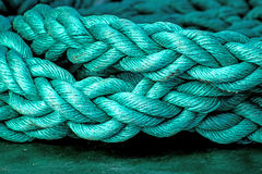 Rope of an anchored ship Royalty Free Stock Photos