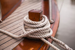 Rope anchoring Stock Image